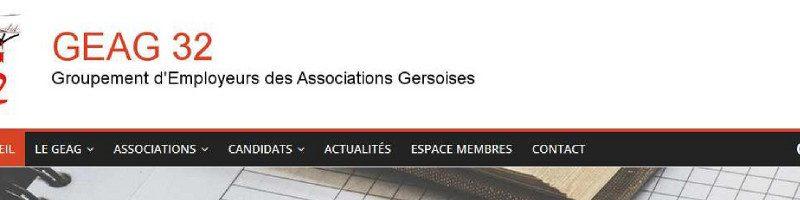 Visuel du site du Groupement d'Employeurs des Associations Gersoises