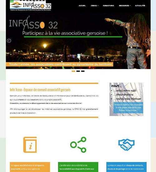 Site Info'Asso 32 / CRIB du Gers