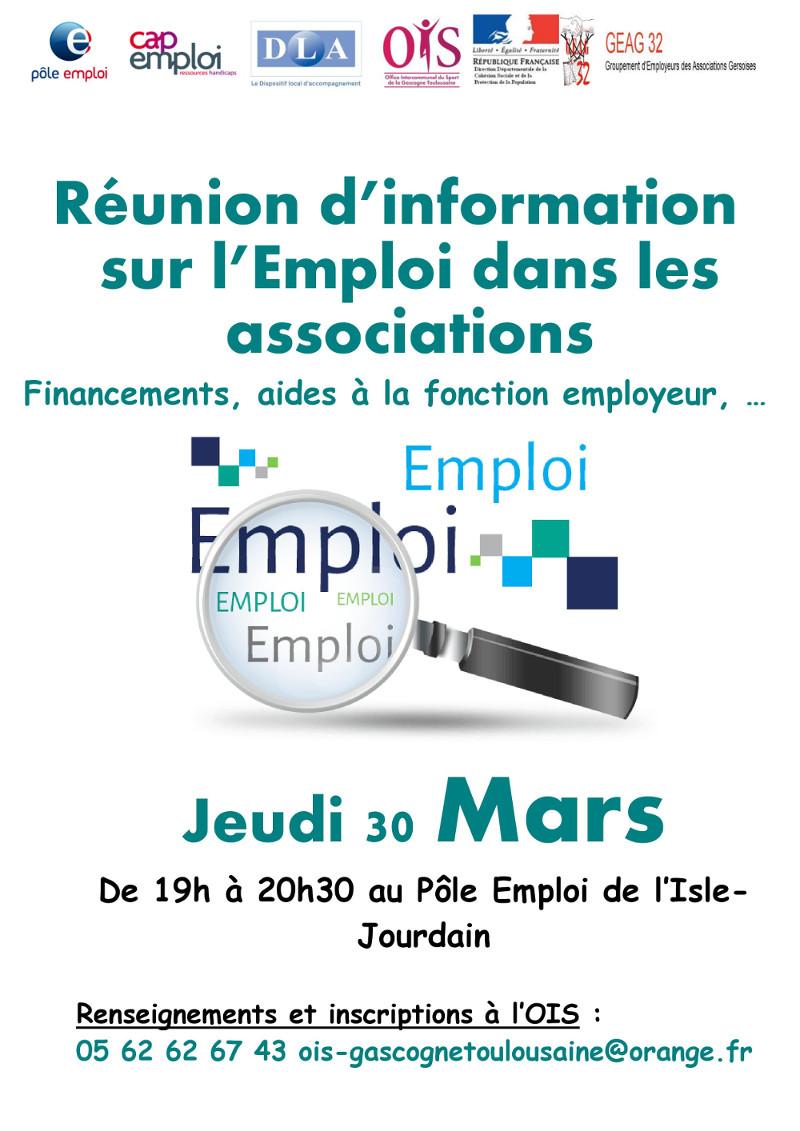 Réunion d'information sur l'emploi dans les associations